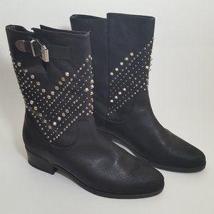 Schutz Womens Black Studded Boot